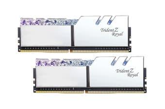 G.Skill Trident Z Royal RGB 16GB (8GB x 2) DDR4-3600MHz - Silver [F4-3600C18D-16GTRS]