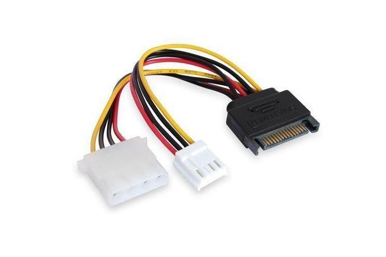 Konix 15CM SATA M To Molex & Floppy