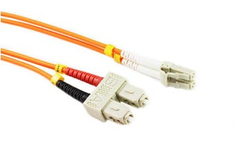 Konix 2M LC-SC OM1 62.5/125 Multimode Duplex Fibre Patch Cable