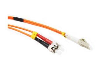 Konix 2M LC-ST OM1 62.5/125 Multimode Duplex Fibre Patch Cable