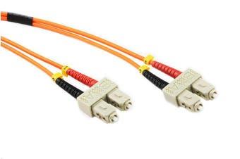 Konix 2M SC-SC OM1 62.5/125 Multimode Duplex Fibre Patch Cable