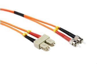 Konix 2M SC-ST OM1 62.5/125 Multimode Duplex Fibre Patch Cable