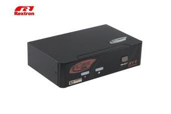 Rextron 2 Port Displayport + USB  KVM Switch ( Audio + HotKey ) [KVM-PAAG112]