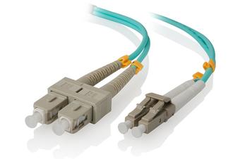Alogic 1m LC-SC 10G Multi Mode Duplex LSZH Fibre Cable 50/125 OM3