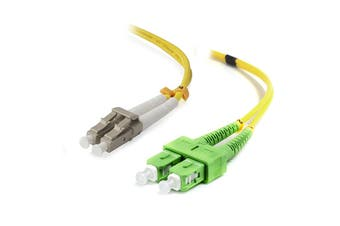 Alogic 1m SCA-LC Single Mode Duplex LSZH Fibre Cable 09/125 OS2