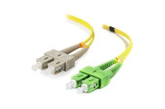 Alogic 1m SCA-SC Single Mode Duplex LSZH Fibre Cable 09/125 OS2
