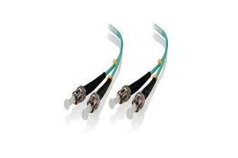 Alogic 1m ST-ST 40G/100G Multi Mode Duplex LSZH Fibre Cable 50/125 OM4