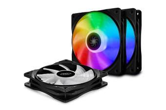 Deepcool CF120 MB Controlled 120mm A-RGB LED Case Fan - 3 in 1 [DP-FA-RGB-CF120-3]