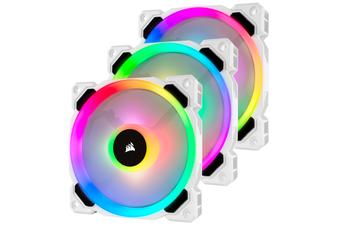 Corsair LL120 RGB 120mm Dual Light Loop RGB LED PWM Fan White - 3 Pack [CO-9050092-WW]