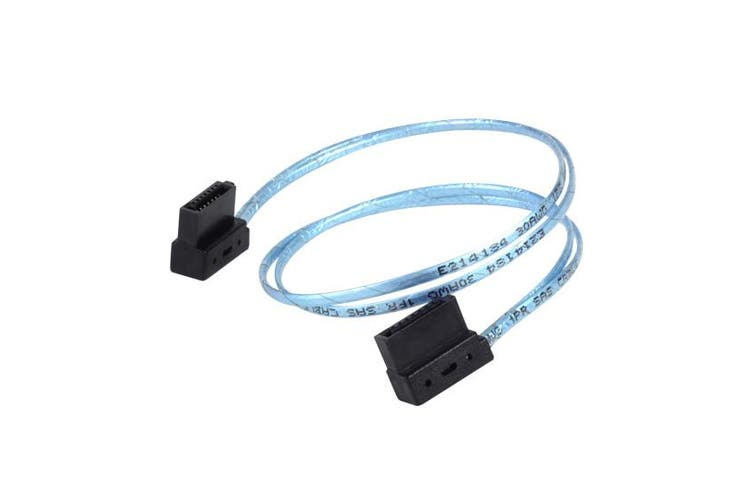 SilverStone CP11 30CM Ultra Thin SATA Cable, Blue