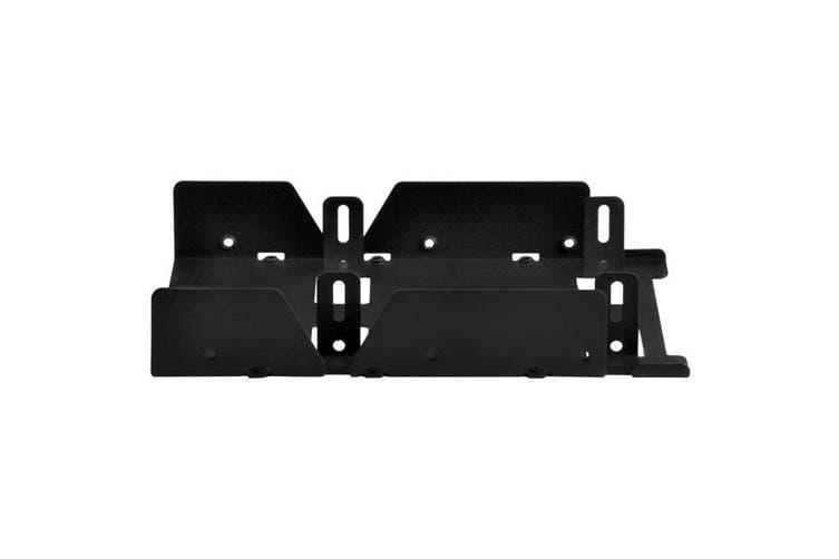SilverStone SDP08B-E, 3.5 to 3 x 2.5 Drive Bay Converter, Black