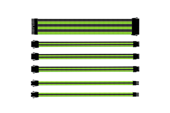 Coolermaster Sleeved Extension Cable Kit - Green/Black  [CMA-SEST16GRBK1-GL]