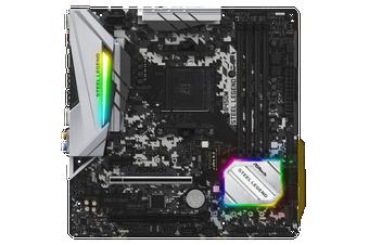 Asrock Steel Legend AMD B450 AM4 Micro-ATX Motherboard [B450M-STEEL-LEGEND]
