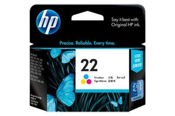 HP 22 Tri-Colour Ink 165 Page Yield [C9352AA]
