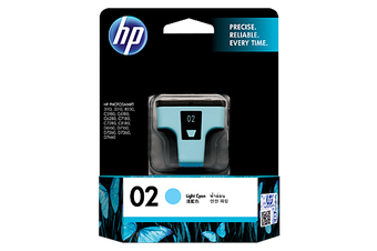 HP 02 Light Cyan Ink 220 Photo Yield