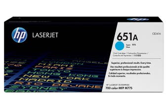HP CE341A 651A Cyan Original Toner Cartridge