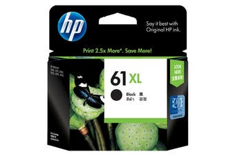 HP 61Xl Black Ink 480 Page Yield [CH563WA]