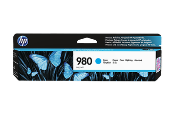 HP 980 D8J07A Cyan Ink Cart