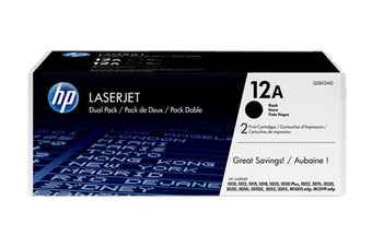 HP 12A Black Dual Toner Pack