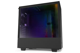 NZXT H510i Smart Tempered Glass Mid-Tower ATX Case - Black [CA-H510i-B1]