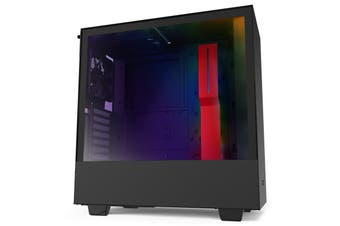 NZXT H510i Smart Tempered Glass Mid-Tower ATX Case - Black/Red [CA-H510i-BR]