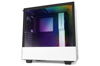 NZXT H510i Smart Tempered Glass Mid-Tower ATX Case - White [CA-H510i-W1]