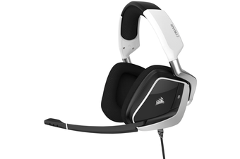 Corsair VOID RGB Elite USB Premium Gaming Headset with 7.1 Surround Sound - White [CA-9011204-AP]