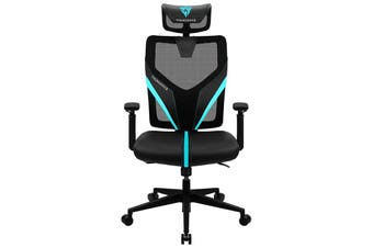 Aerocool ThunderX3 YAMA1 Breathable Ergonomic Gaming Chair - Black/Cyan [TX3-YAMA1-BC]