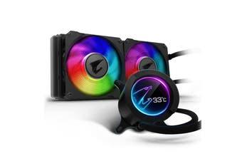 Gigabyte AORUS 240 ARGB 120mm LCD Display Liquid CPU Cooler [GP-AORUS-LIQUID-COOLER-240]