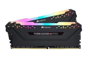 Corsair Vengeance RGB Pro 16GB(2x8GB) DDR4-3600 RAM - Black [CMW16GX4M2Z3600C18]