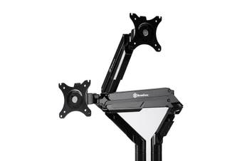 SilverStone SST-ARM21B Gas Spring Swing Dual Monitor Mount - Black