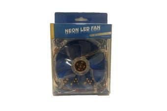 WideTech 120mm Neon Blue LED Fan - Clear [WT-DF12025]