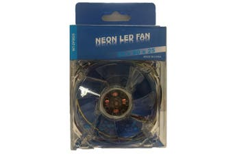 WideTech 80mm Neon Blue LED Fan - Clear [WT-DF8025]