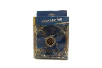 WideTech 120mm Neon 4 Colours LED Fan - Clear [WT-DF12025-4LED]