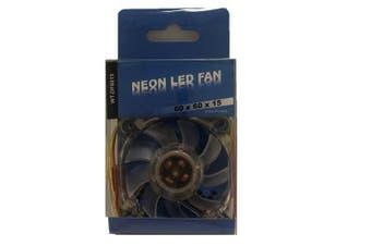 WideTech 60mm Neon Blue LED Fan - Clear [WT-DF6015]