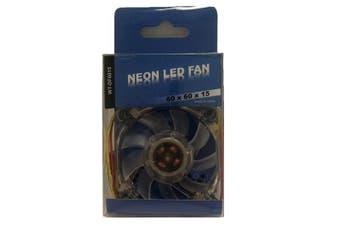 WideTech 60mm Neon 4 Colours LED Fan - Clear [WT-DF6015-4LED]