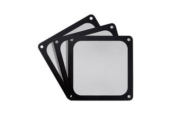 Silverstone 140mm Ultra Fine Magnetic Fan Filter 3-Pack - Black [SST-FF143B-3PK]