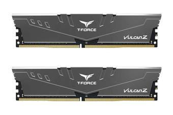 Team T-Force Vulcan Z 16G(2x8GB) DDR4-3000 DIMM Memory - Gray [TLZGD416G3000HC16CDC01]