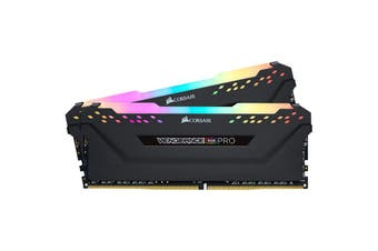 Corsair Vengeance RGB Pro 16GB(2x8GB) DDR4-3600 RAM - Black CMW16GX4M2D3600C18