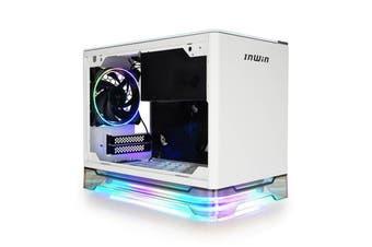 InWin A1 PLUS ARGB Qi Charger TG Mini-ITX Case with 650W 80+ Gold PSU - White [A1PLUS-WHITE]