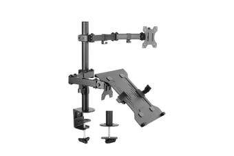 Brateck Double Joint Articulating Steel Monitor Arm [LDT12-C1M2KN]