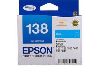 Epson 138 DURABrite Ultra - Cyan Ink Cartridge