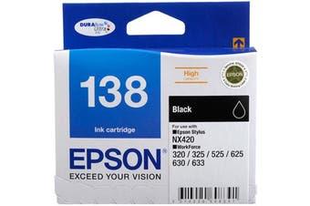 Epson 138 DURABrite Ultra - Black Ink Cartridge