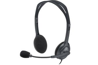 Logitech H111 Affordable Multi-Device Stereo Headset - 4 Pole 3.5mm [981-000588]