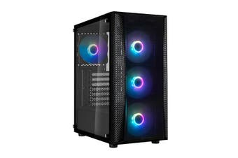 SilverStone Fara B1 Rainbow Tempered Glass ATX Transparent Front Panel Computer Case With (4) 120mm Rainbow Fans [SST-FAB1B-LDRB]