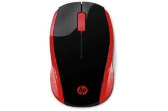 HP 200 2VY29AA 2.4 GHz Wireless Mouse - Empress Red