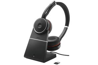 Jabra Evolve 75 UC Stereo ANC Bluetooth Headset With Charging Stand [7599-838-199]
