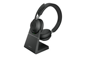 Jabra Evolve2 65 MS Stereo USB Bluetooth Headset with Charging Stand [26599-999-989]