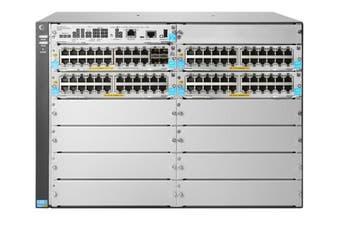 Hewlett Packard Enterprise 5412R 92GT PoE+ & 4-Port SFP+ (No PSU) v3 zl2 Managed L3 Gigabit Ethernet (10/100/1000) Grey 7U Power over Ethernet (PoE) Switch [JL001A]