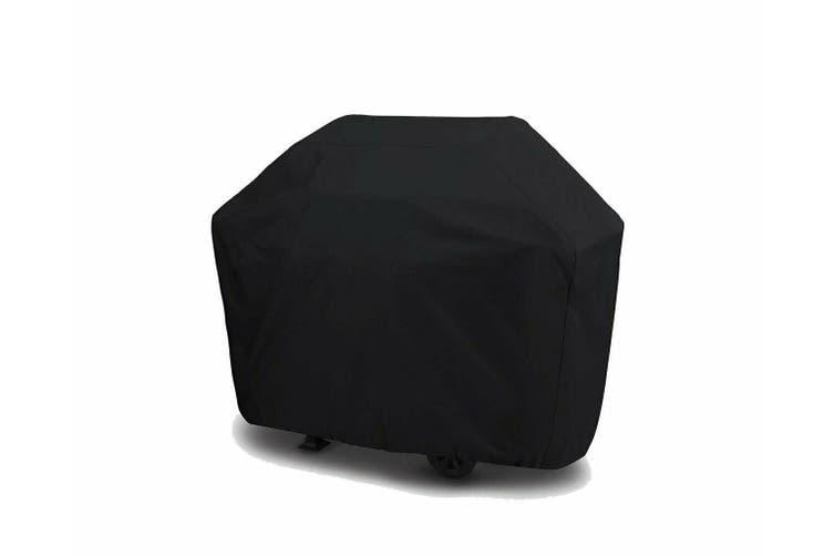 Kaiser Boating 185 x 65 x 115cm 6 Burner BBQ Gas Charcoal Barbecue Cover - Black, Premium Heavy Duty 600D Marine Grade Oxford Polyester Rain UV Resistant